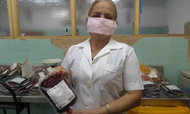 Marilín Lezcano Ramos, estadística del banco municipal de sangre